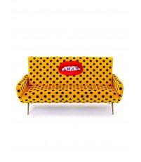Sofa tapicerowana 3-osobowa Seletti - wzór Shit