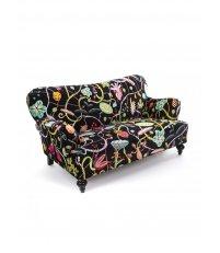 Sofa tapicerowana Botanical Diva Seletti - wersja czarna