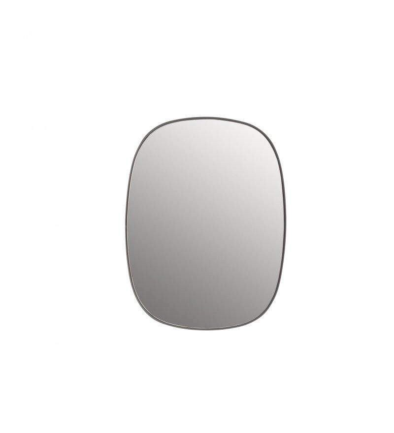 Lustro FRAMED Muuto szare + przezroczyste szkło - 2 wielkości