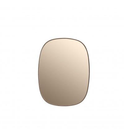 Lustro FRAMED Muuto bladoróżowe + bladoróżowe szkło - 2 wielkości