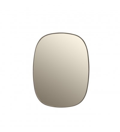 Lustro FRAMED Muuto beżowe + beżowe szkło - 2 wielkości