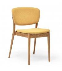 OUTLET Krzesło tapicerowane Valencia TON - dąb olejowany, tkanina Jet Bioactive 9304