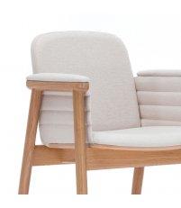OUTLET Fotel tapicerowany PROP B-PROP-4398 Paged - dąb lakierowany, tkanina Hugo 1