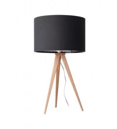 Lampa stołowa Tripod Wood czarna Zuiver