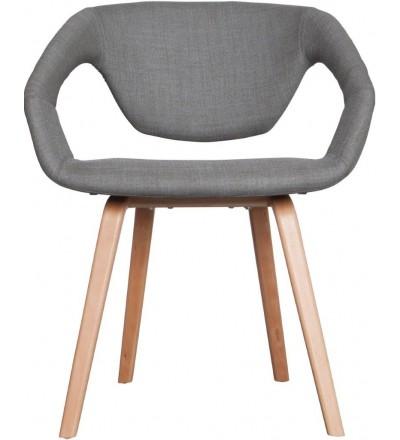 Fotel/Krzesło FLEXBACK Zuiver jasnoszary jasne nogi