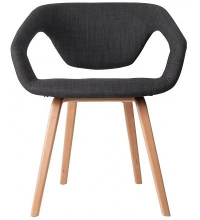 Fotel/Krzesło FLEXBACK Zuiver ciemnoszary jasne nogi