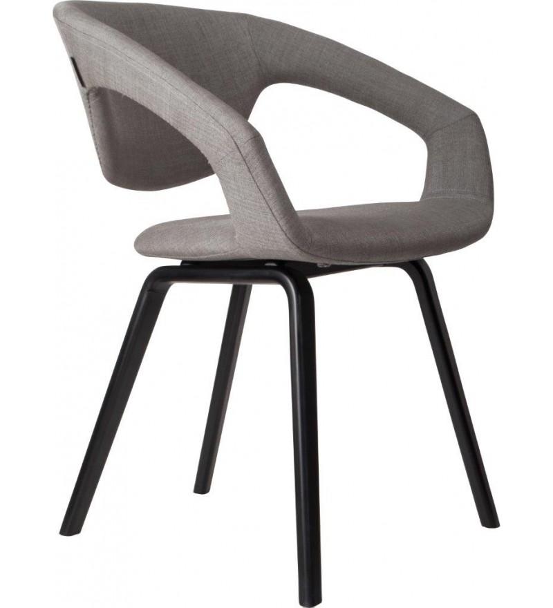 Fotel/Krzesło FLEXBACK Zuiver jasnoszary nogi czarne