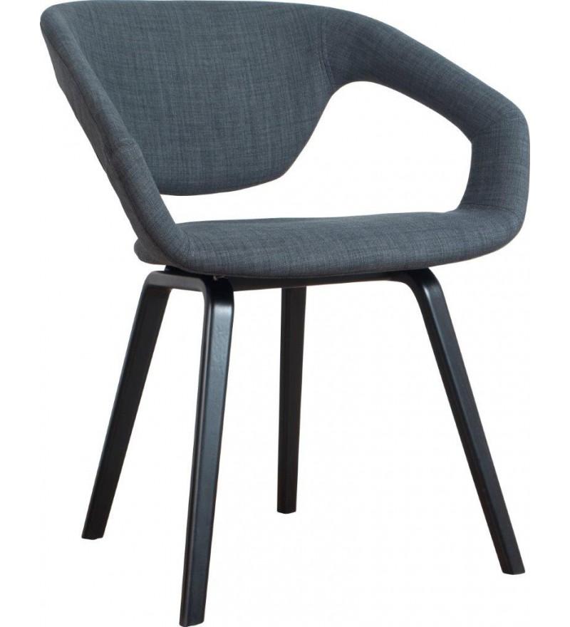 Fotel/Krzesło FLEXBACK Zuiver ciemnoszary nogi czarne