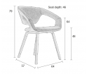 Krzesło FlexBack Zuiver ciemnoszary nogi czarne