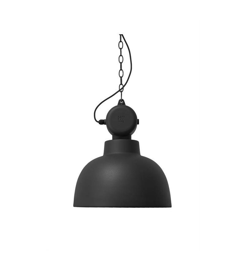 Lampa Factory M HK Living - czarna matowa