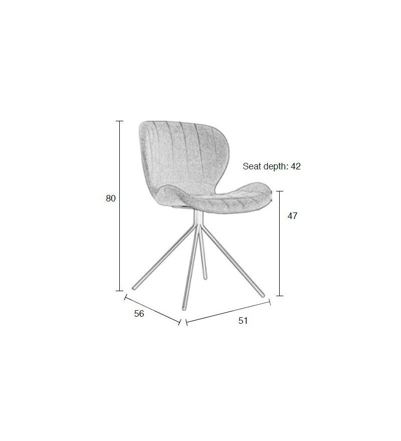 Krzesło OMG czarne Zuiver Pufa Design