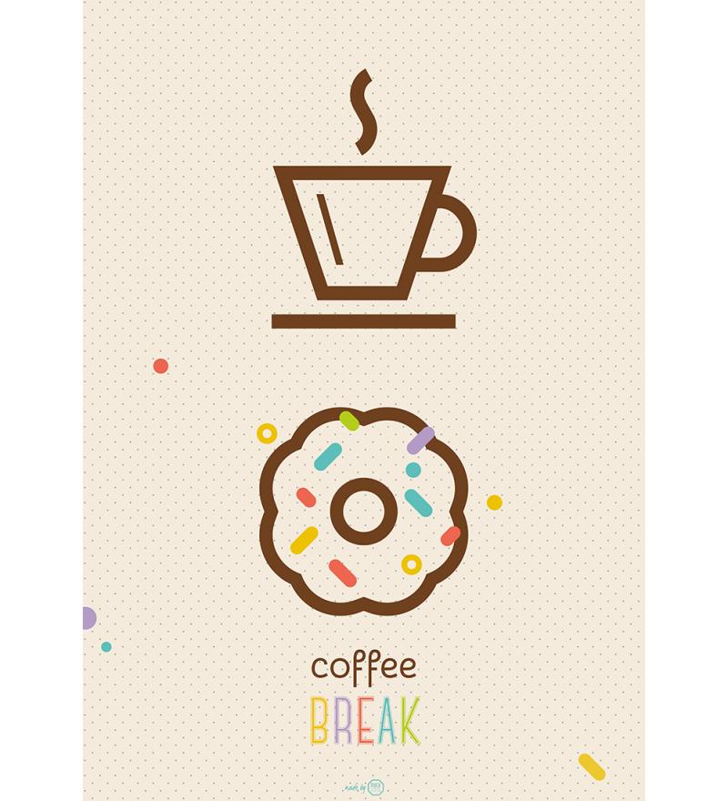 Plakat 'Coffee break' - różne wielkości