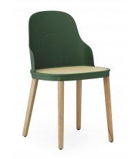 Krzesło ALLEZ na dębowych nogach Normann Copenhagen - różne kolory, siedzisko z rattanu (PP), na zewnątrz
