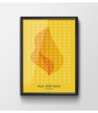 Plakat 'Moc 200 koni' - różne wielkości