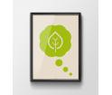 Plakat 'Think green' - różne wielkości