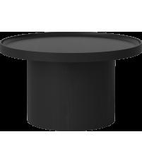 Stolik kawowy Plateau Bolia - Ø74 cm, barwiony na czarno dąb lakierowany