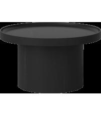 Stolik kawowy Plateau Bolia - Ø61 cm, bejcowany na czarno dąb lakierowany