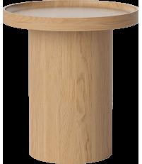 Stolik kawowy Plateau Bolia - Ø48 cm, lakierowana dębina
