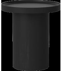 Stolik kawowy Plateau Bolia - Ø48 cm, bejcowany na czarno dąb lakierowany