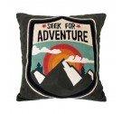 Wyszywana poduszka Adventure Storebror - 50x50 cm