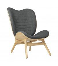 Fotel A Conversation Piece Tall UMAGE - oak, szary / slate grey