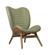 Fotel A Conversation Piece Tall UMAGE - dark oak, bladozielony / spring green