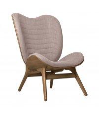 Fotel A Conversation Piece Tall UMAGE - dark oak, bladoróżowy / dusty rose