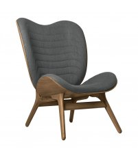 Fotel A Conversation Piece Tall UMAGE - dark oak, szary / slate grey