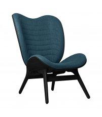 Fotel A Conversation Piece Tall UMAGE - black oak, ciemnoniebieski / petrol blue