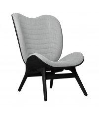 Fotel A Conversation Piece Tall UMAGE - black oak, jasnoszary / silver grey