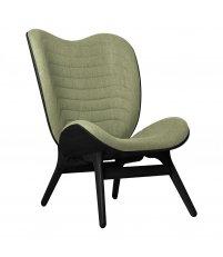 Fotel A Conversation Piece Tall UMAGE - black oak, bladozielony / spring green