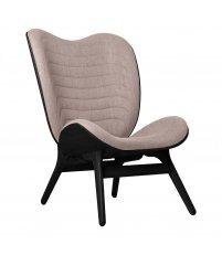 Fotel A Conversation Piece Tall UMAGE - black oak, bladoróżowy / dusty rose