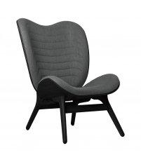 Fotel A Conversation Piece Tall UMAGE - black oak, szary / slate grey