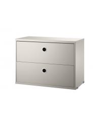 Komoda modułowa String Furniture- system String®, rozm. 78/37/20, różne kolory, z 2 szufladami