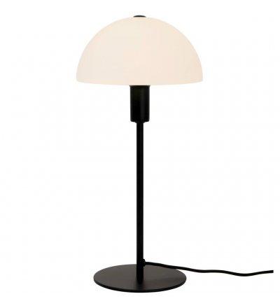 Lampa stołowa Ellen Nordlux - czarna, szklany klosz