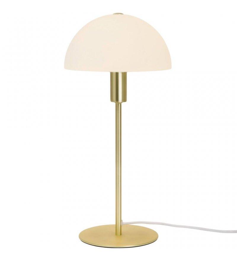 Lampa stołowa Ellen Nordlux - mosiężna, szklany klosz