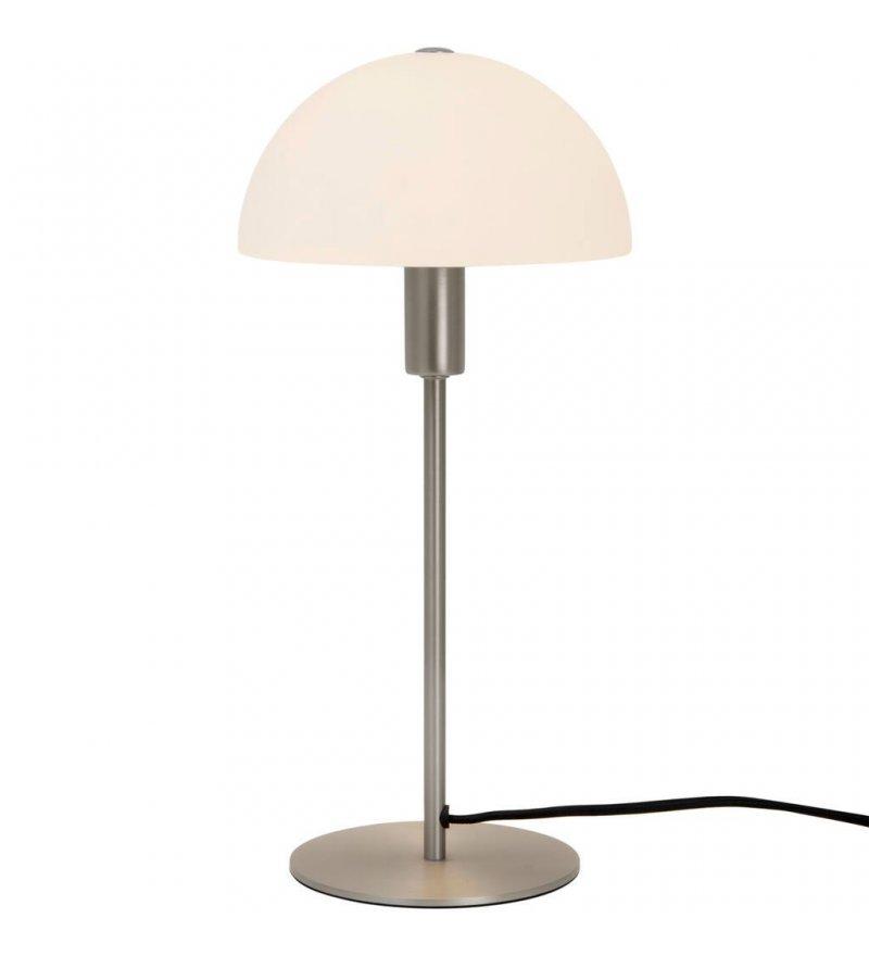Lampa stołowa Ellen Nordlux - szczotkowana stal, szklany klosz