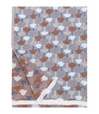 Pled wełniano-lniany TULPPAANI Lapuan Kankurit -  130 x  180 cm, cinnamon-blue