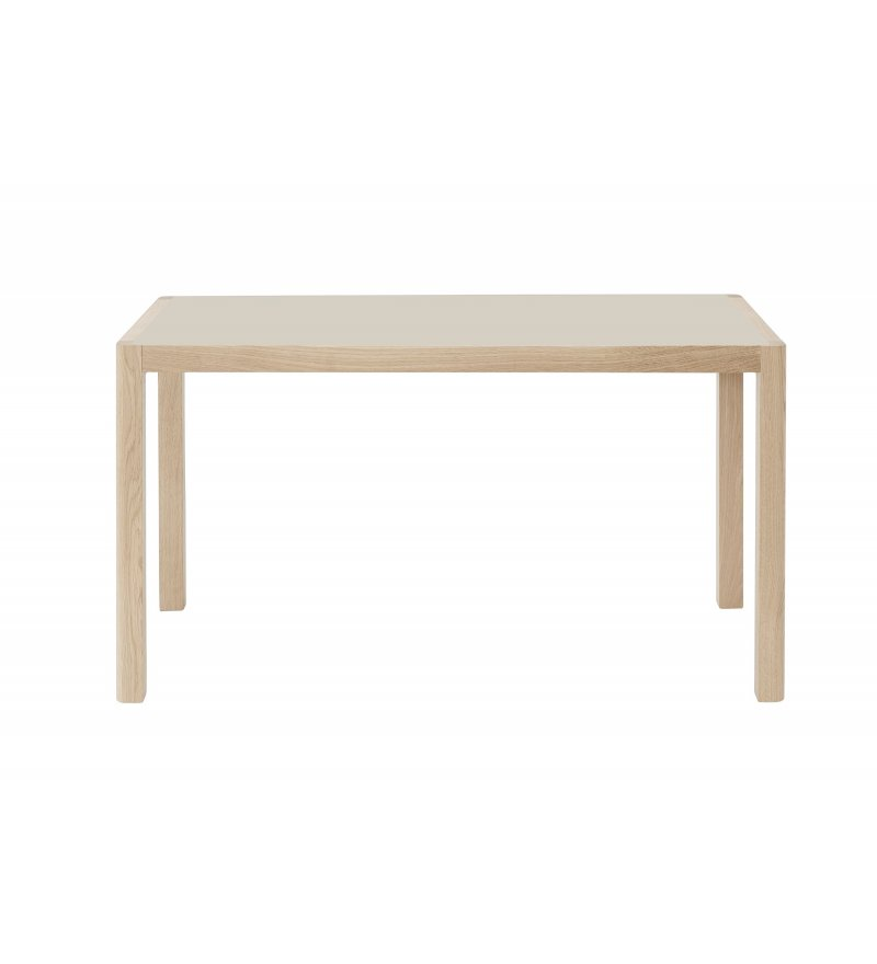 Stół WORKSHOP MUUTO - 130x65 cm, warm grey linoleum/oak