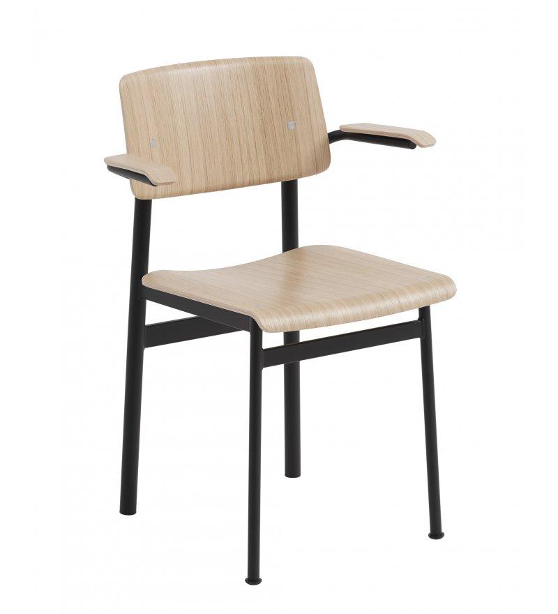 Krzesło Loft Chair w. Armrest Muuto - różne kolory, z podłokietnikami