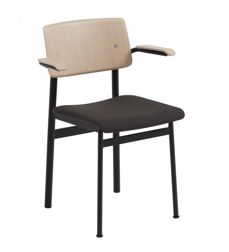 Krzesło tapicerowane Loft Chair w. Armrest Muuto - różne kolory, z podłokietnikami