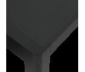 Stół WORKSHOP MUUTO - 140x92 cm, black linoleum/black
