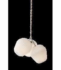 Lampa wisząca THE BOUQUET LE KLINT - rozmiar M, 3 plisowane klosze z papieru