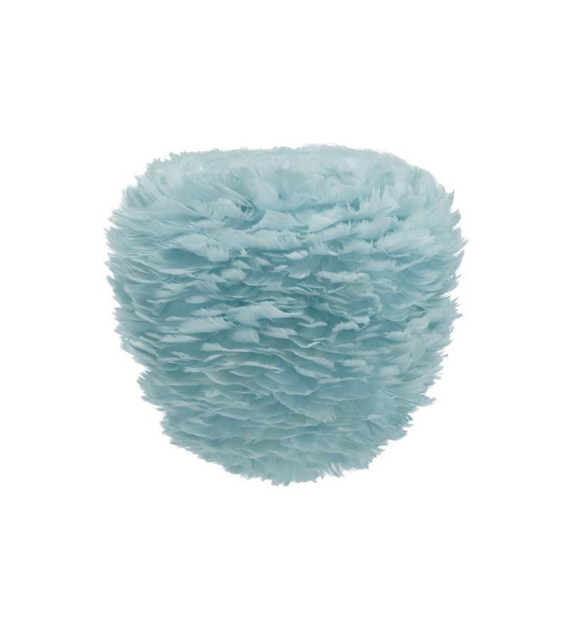 Lampa z piór Eos Evia Medium light blue UMAGE - jasnoniebieska, średnica 40 cm