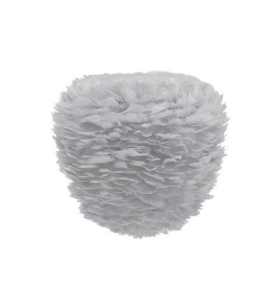 Lampa z piór Eos Evia Medium light grey UMAGE - jasnoszara, średnica 40 cm