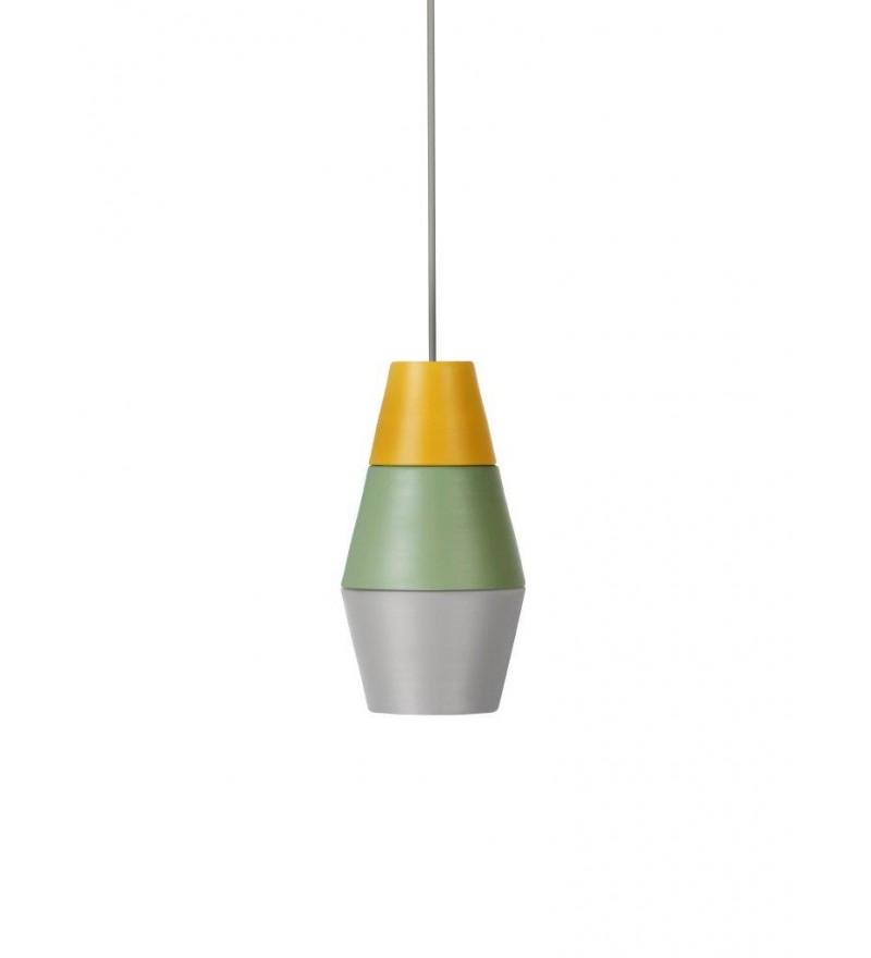Lampa NIGHTY NIGHT kolekcja ILI ILI - żółto-zielono-szara