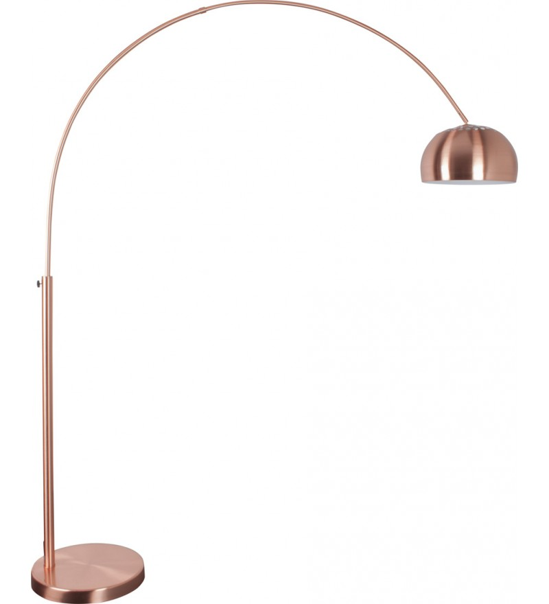 Lampa podłogowa Metal Bow Zuiver - miedź