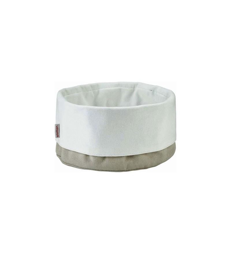 Stelton Classic chlebak - torba na pieczywo piaskowo-biała