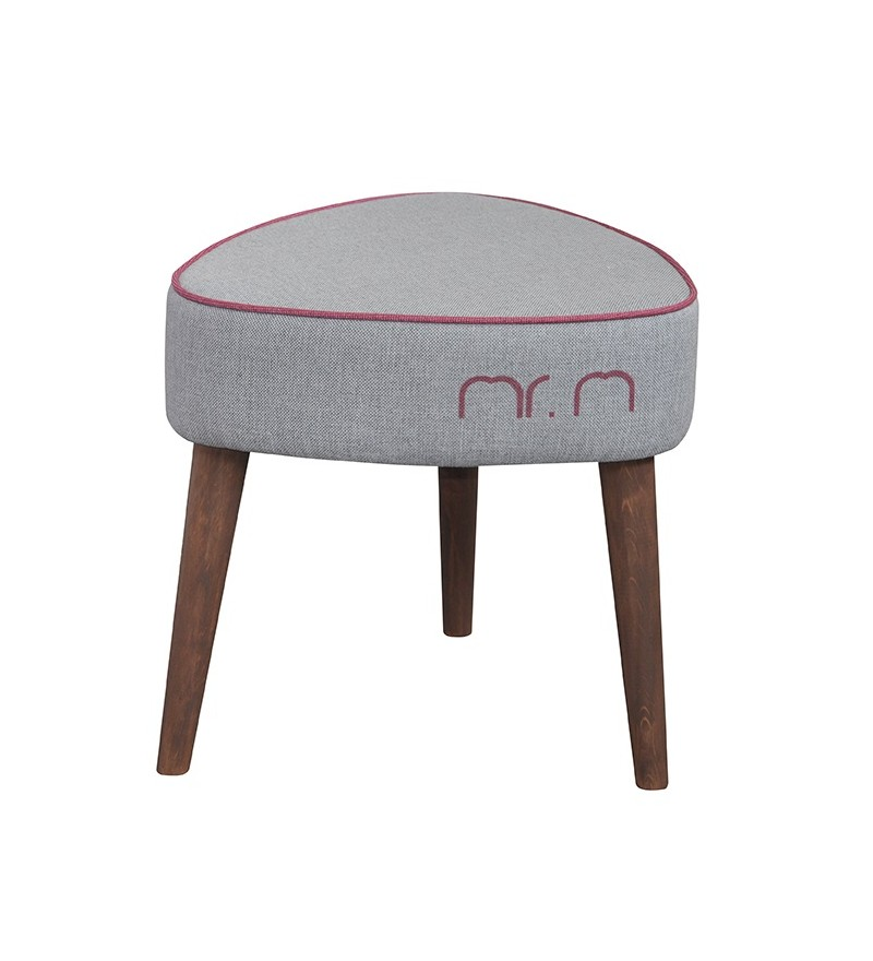 Stołek Mr M Monkey Machine - szary/róż