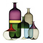 Seria wazonów Bolle z kolekcji maki Venini projektu Tapio Wirkkalla